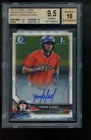 2018 Bowman Chrome Yordan Alvarez BGS 9.5 TRUE GEM MINT 10 AUTO