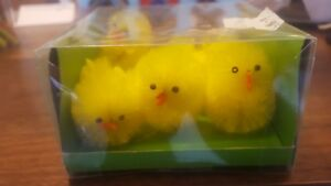 Easter chicks x6 decorations