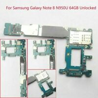 For Samsung Galaxy Note 8 SM-N950U Unlocked Motherboard Main Logic Board 64GB