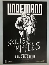LINDEMANN - RAMMSTEIN  2016 PROMO +  orig.Concert Poster -- Konzert Plakat   NEU