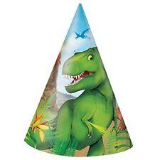 Unique Party 58301 Dinosauro Cappellini per Feste Confezione da 8