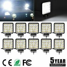 New listing 1/2/10 Pack 48W Spot Work Led Light Bar Round Lamp Driving Offroad Car Truck Lot