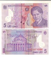 Romania 5 lei 2005   FDS UNC pick 118   lotto 2388