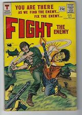 Fight the Enemy #1 Tower Comics 1966 5.5 FN- War Comic Book Vintage Action