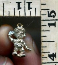 VINTAGE STERLING BRACELET CHARM~#82960~DISNEY~W.D.P.~OLDER VERSION OF PINOCCHIO