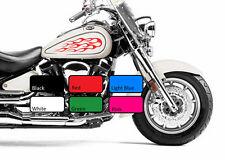 2 X Flame 113 Tanque De Combustible De Fuego Vinilo Motocicleta Motor Decal Sticker Moto Bicicleta
