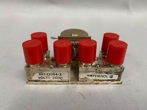 "UNUSED Amphenol 321-11064-3 - DPDT RF Coaxial Relay W/ ""6"" BNC Connectors (B15)"