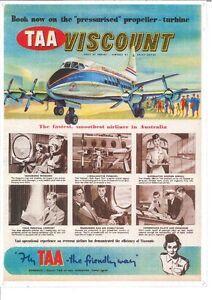 TAA Viscount Plane (772) Metal Sign