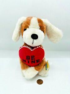"""Vintage 1976 Dakin Dog Droopy Be Mine Heart Puppy Korea 7"""""""