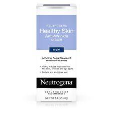New Neutrogena Healthy Skin Anti-Wrinkle Cream Night 1.4 OZ.