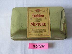 Alte Pfeifentabak Blechdose Golden Mixture Martin Brinkmann Bremen Sammlerdose