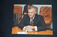 ALEKSANDER KWASNIEWSKI signed autograph In Person 8x10 20x25 cm PRESIDENT POLAND