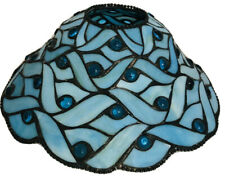 """Spring Water Tiffany Blue Partylite Style Lamp Shade 10� X 4.75"""""""