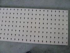 2 x Tegometall Rückwand gelocht Lochwand 66,5x40 cm, Schlüssellochung, juraweiß