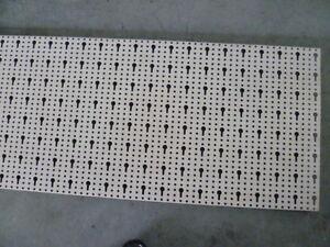 4 x Tegometall Rückwand gelocht Lochwand 66,5x40 cm, Schlüssellochung, juraweiß