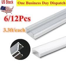6/12Pcs 3.3ft Each DIY LED Strip Aluminum Channel Holder U Shape w/ Cover 1M