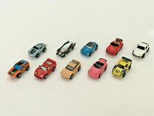 MICRO MACHINES PORSCHE AUTOS CARS VEHICLES ASSORTED GROUP LOT OF 10