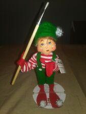 "New 2015 Annalee Silver Sparkle Painter Elf Christmas Figurine 7"" Nwt"
