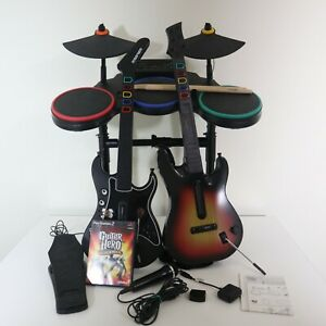 PS 2 Guitar Hero Bundle PS2 wireless Drums,Mic, 2 Guitars, 2 dongles