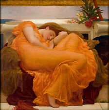 Flaming June by Lord Frederick Leighton Fine Art Giclee Canvas Print