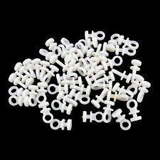 50Pcs/Set Rail Curtain Track Gliders Runners White Tracking Part Accessory Kit