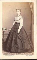 Marzocchini CDV photo Feine Dame - Livorno 1860er