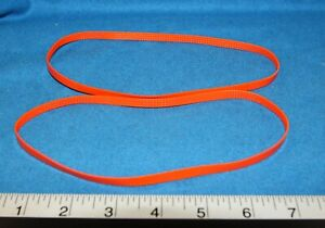 Rowe BA-50 transport Orange replacement timing belts - qty 2 for 1 price