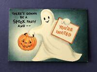 Vintage 1950s Halloween Party Invitation Card • Hallmark