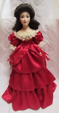 "Franklin Mint Heirloom Bisque Porcelain Doll - Joanna Blue Danube Waltz 17"" Tall"