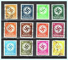 """DEUTSCHES REICH: 1934 / 1942 """"Swastica"""" Used Set"""
