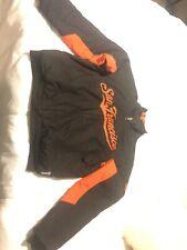 San Francisco Giants MLB Authentic Majestic Therma Base Jacket S Black Orange