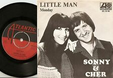 SONNY AND CHER LITTLE MAN & MONDAY SWEDISH 45+PS 1966 MOD BEAT SOUL PSYCH