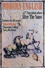 MODERN ENGLISH 1983 AFTER THE SNOW ORIGINAL PROMO POSTER