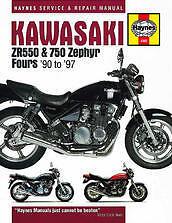 Kawasaki ZR 550 750 Zephyr Fours Repair Service Manual shop guide 90-97