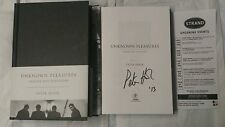 Signed Peter Hook Unknown Pleasures Inside Joy Division 1/1 HC Book New Order