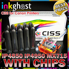 CISS compatible with CANON IP4850 IP4950 MX715 System PGI525 CLI526 CHIPPED