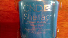 CND SHELLAC WATER PARK GEL POWER POLISH PRETTY BLUE LIMITED EDITION SHIPS TODAY