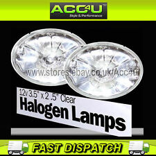 12v Sports Style Clear Glass Lens Oval Shape Car Halogen Driving Lamps Lights