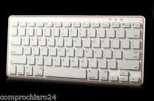 Tastiera Bianca per Tablet, iPad, Smart Phone - Keyboard Bluetooth 3.0