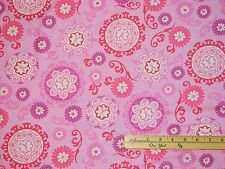 Project Pink Medallion Ribbon Breast Cancer Survivor Fabric 1/2 Yard 36407-1