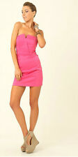 Supre Womens Size M/12 Formal/Party/Cocktail StraplessTafsat Hot Pink Dress BNWT