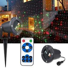 Garden Landscape Backgroud Outdoor Xmas Laser Beam Red Green Projector Lights