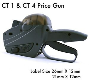 Price Tag Gun Retail Pricing Labeller Kit 1500 Labels Stickers +  Spare Ink