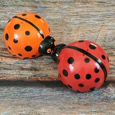 Lovely Lady Bugs Magnetic Salt and Pepper Shaker Set PFALTZGRAFF Hand Painted