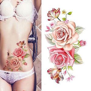 Wasserdicht Temporäre Tätowierungen Bauch Körper Tattoo Aufkleber Sticker DIY