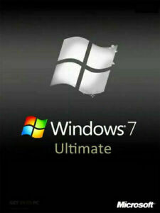 Microsoft Windows 7 Ultimate 64 Bit SP1 Full Version Install DVD + Product Key