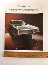 1969 CHRYSLER - Original Prestige Color Sales Catalog - Brochure - (US)