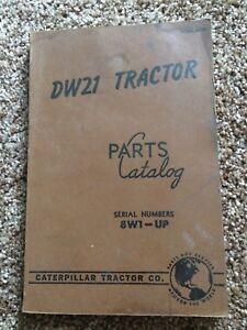 CAT Caterpillar DW21 Tractor Scraper Parts Manual Book Catalog shop 1952 8W1-up