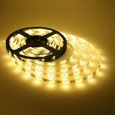 5M 3528 SMD 300 Leds Strip Light Waterproof Tape Warm White 12V Party Flexible