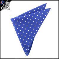 Navy Blue Polka Dot Pocket Square Handkerchief hanky